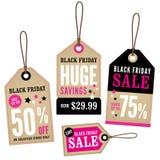 Labels de vente au détail de Black Friday Photos stock