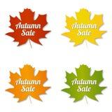 Labels de vente d'automne Images libres de droits