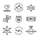 Labels de vintage illustration libre de droits