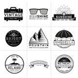 Labels de voyage de vintage Images libres de droits