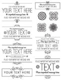 Labels and Design Elements. A collection of frames and design elements royalty free illustration