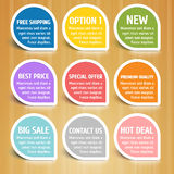 Labels Design Elements Set Royalty Free Stock Image