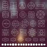 Labels and design elements Royalty Free Stock Image