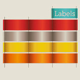 Labels design Royalty Free Stock Photos