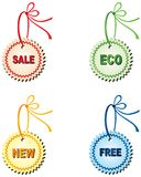 Labels for design sales and promotions Royalty Free Stock Photo