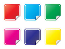 Labels different colors. Vector illustration Stock Images