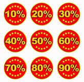 Labels about discounts Royalty Free Stock Photo