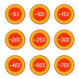 Labels discounts. Stock Image