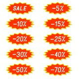 Labels discounts. Royalty Free Stock Photography