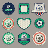 Labels du football Photographie stock