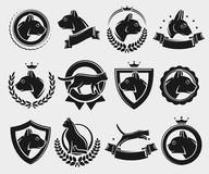 Сat labels and elements set. Vector. Cat labels and elements set. Vector illustration Stock Images