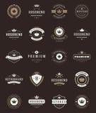 Labels et couronnes de la meilleure qualité de qualité de rétro vintage illustration stock