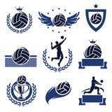 Labels et icônes de volleyball réglés. Vecteur Photos stock