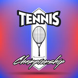Labels et insignes de tennis Photographie stock libre de droits