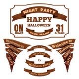 Labels et rubans pour Halloween Graphismes de vecteur illustration de vecteur