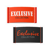 Labels exclusifs d'habillement de collection Image libre de droits