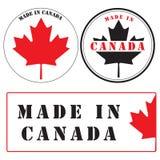 Labels faits dans le Canada Photographie stock libre de droits