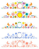 Labels with fancy flowers. Royalty Free Stock Images