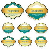 Labels for the food with a place for text Royalty Free Stock Image