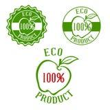 Labels frais de produit avec le fruit Image libre de droits