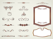 Labels frames and calligraphic elements. Vector Royalty Free Stock Photo