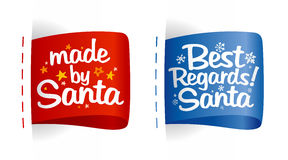 Labels for gifts from Santa. Stock Photo
