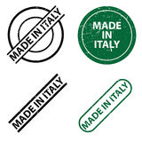 Labels for goods made in Italy Stock Image