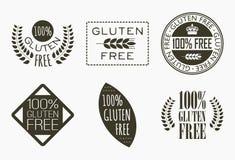 Labels gratuits de gluten illustration de vecteur