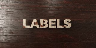 Labels - grungy wooden headline on Maple  - 3D rendered royalty free stock image. This image can be used for an online website banner ad or a print postcard Royalty Free Stock Images
