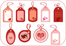 Labels with hearts Royalty Free Stock Photography