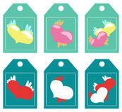 Labels. hearts Royalty Free Stock Photos