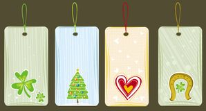 labels for holidays, vector Stock Photography