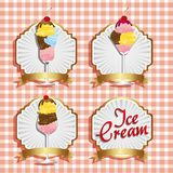 Labels ice cream Royalty Free Stock Photography