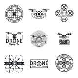 Labels, insignes et logos aériens de club de vol de bourdon Images stock