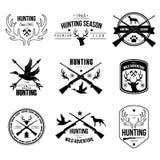 Labels Logo Design Elements Hunting d'insignes illustration stock
