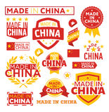 Labels made ​​in China Royalty Free Stock Images