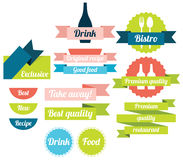 Labels for menu design Stock Photo
