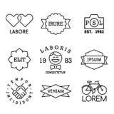 Labels minimaux de vintage Photos libres de droits