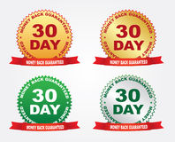Labels - Money back guaranteed Royalty Free Stock Images