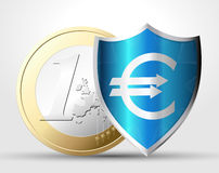 Labels - money protection 1. Labels - Euro money protection concept Stock Photo