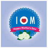 Labels mother day  Royalty Free Stock Image