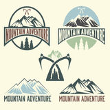 Labels mountain adventure Royalty Free Stock Image