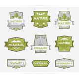Labels Natural Product. Set of labels Natural product Stock Image