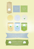 Labels for natural production Stock Photos