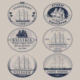 Labels nautiques Photos stock