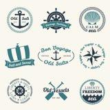 Labels nautiques Images libres de droits