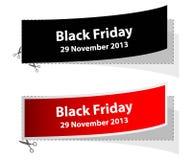 Labels noirs spéciaux de vendredi Photographie stock libre de droits