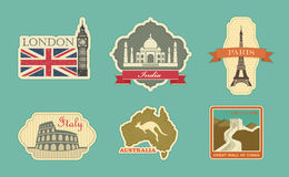Labels Of Travel Stock Image