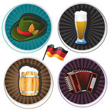 Labels with Oktoberfest Symbols Royalty Free Stock Photography