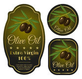 Labels for olive oil Royalty Free Stock Images